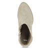 Béžové kotníčkové kozačky z broušené kůže bata, béžová, 693-8603 - 17