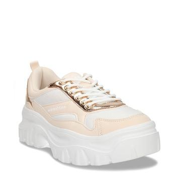 Dámské růžovo-bílé tenisky Chunky městského typu north-star, béžová, 541-8605 - 13