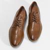 Pánské hnědé kožené Derby polobotky bata, hnědá, 826-3616 - 16