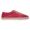 Červené dámské kožené tenisky s jutou bata, červená, 544-5604 - 19
