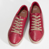 Červené dámské kožené tenisky s jutou bata, červená, 544-5604 - 16