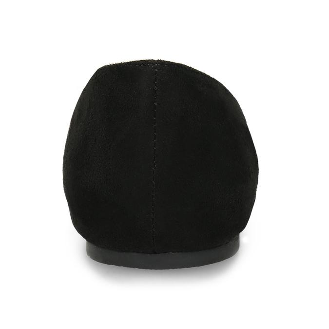 Černé dámské baleríny s vykrojením bata, černá, 529-6601 - 15
