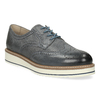 Dámské šedé kožené ležérní polobotky bata, šedá, 524-2601 - 13