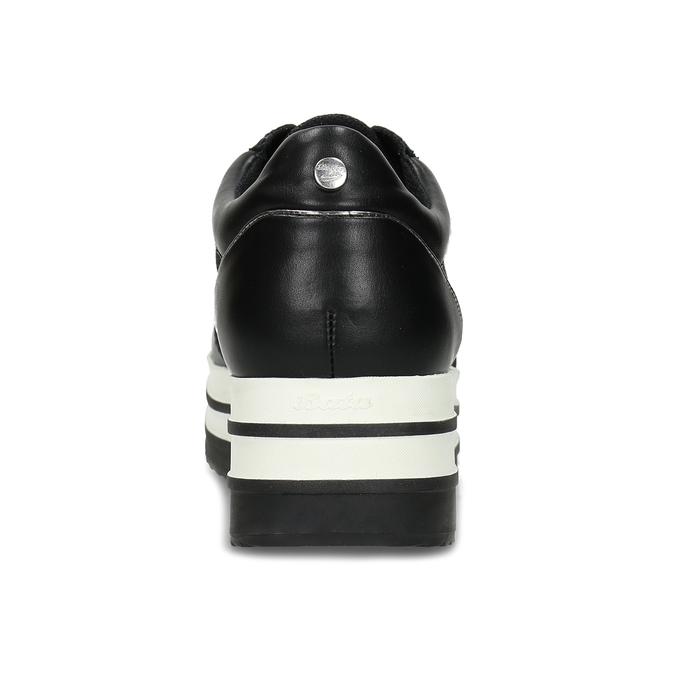 Černé tenisky na flatformě se třpytkami bata-light, černá, 541-6614 - 15