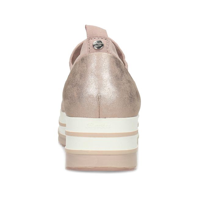 Dámské růžové slip-on tenisky bata-light, béžová, 531-8601 - 15