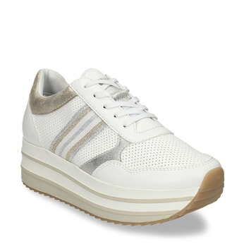 Dámské tenisky na flatformě bílé bata-light, bílá, 541-1603 - 13