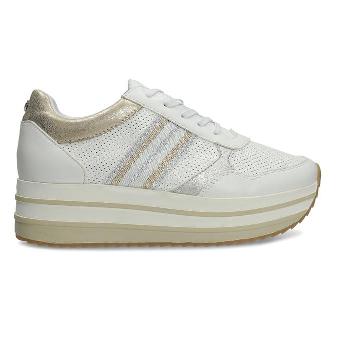 Dámské tenisky na flatformě bílé bata-light, bílá, 541-1603 - 19