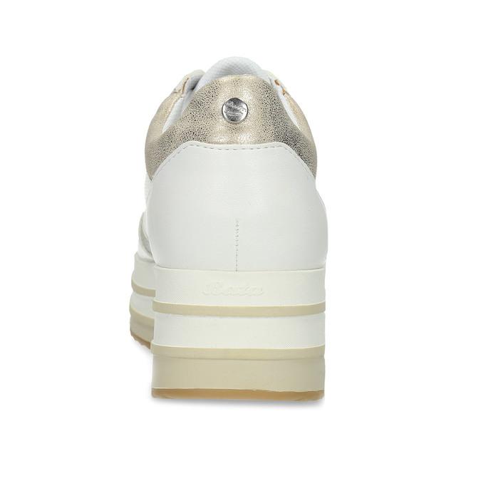 Dámské tenisky na flatformě bílé bata-light, bílá, 541-1603 - 15