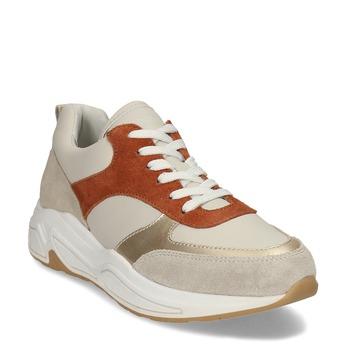 Kožené dámské béžové tenisky městského stylu bata, béžová, 544-4602 - 13