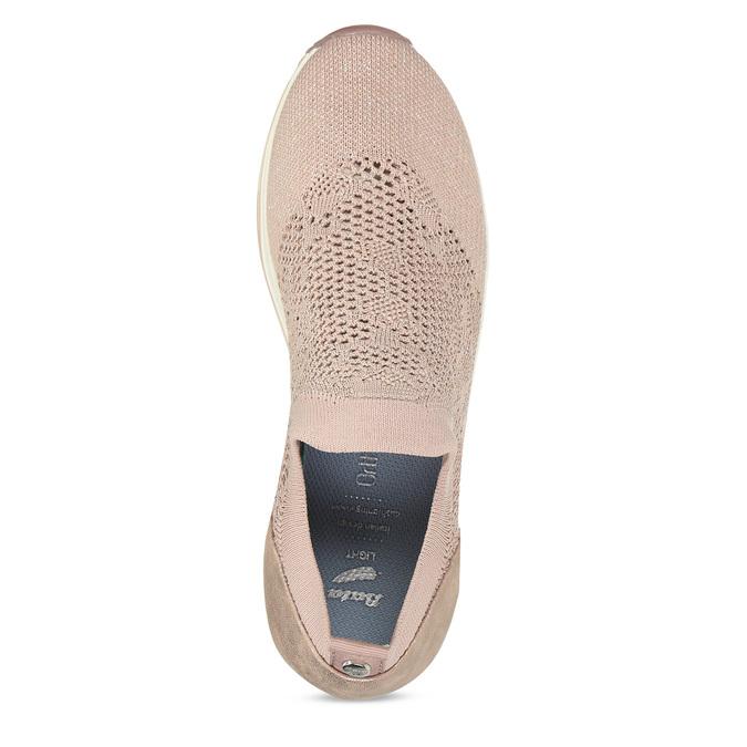 Dámské růžové slip-on tenisky bata-light, béžová, 531-8601 - 17