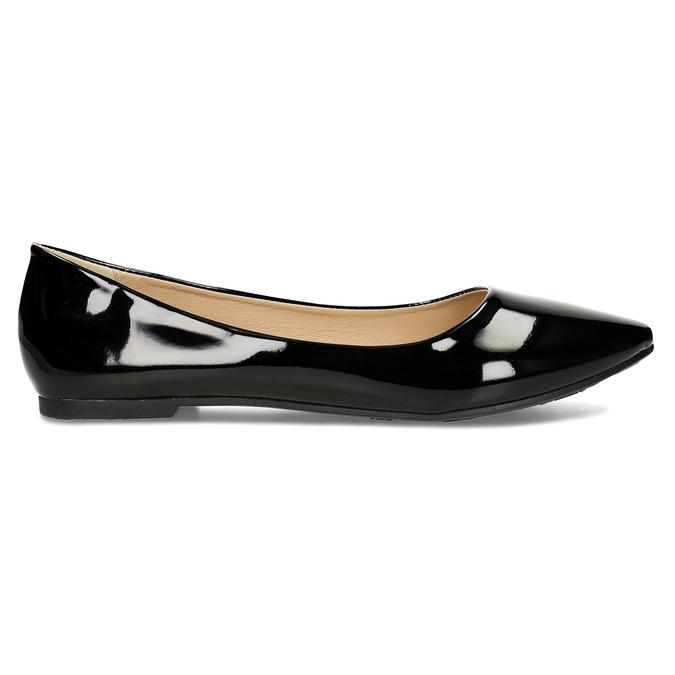 Dámské černé baleríny lakované bata, černá, 521-6622 - 19