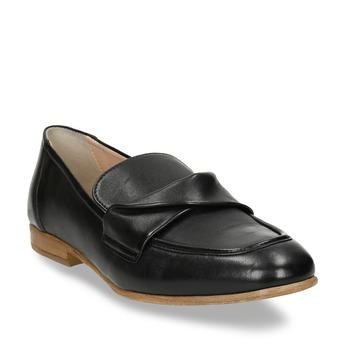Dámské kožené černé mokasíny bata, černá, 516-6606 - 13
