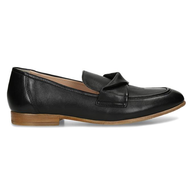 Dámské kožené černé mokasíny bata, černá, 516-6606 - 19