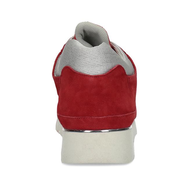 Dámské kožené červené tenisky městského typu bata, červená, 523-5609 - 15