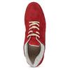 Dámské kožené červené tenisky městského typu bata, červená, 523-5609 - 17