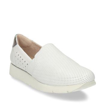 Dámské kožené bílé Slip-on tenisky bata, bílá, 524-1608 - 13