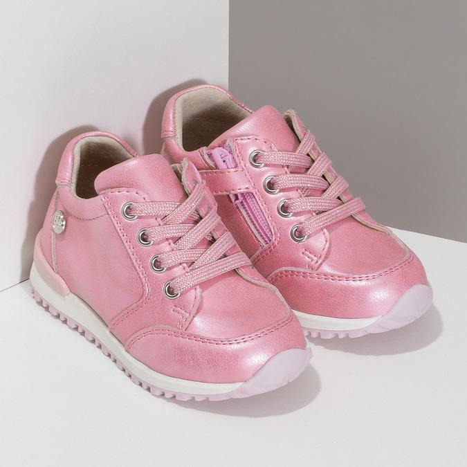Růžové dětské tenisky se zipem bubblegummers, růžová, 121-5627 - 26
