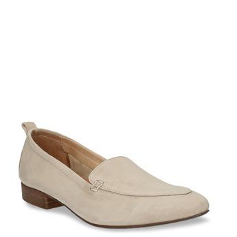 Dámské kožené béžové mokasíny bata, béžová, 516-4604 - 13