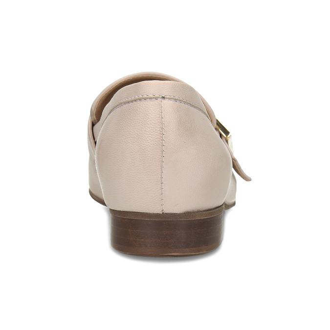 Dámské kožené béžové mokasíny se sponou bata, růžová, 514-5605 - 15