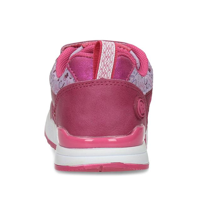 Dívčí tenisky na suchý zip růžové bubble-breathe, růžová, 221-5621 - 15