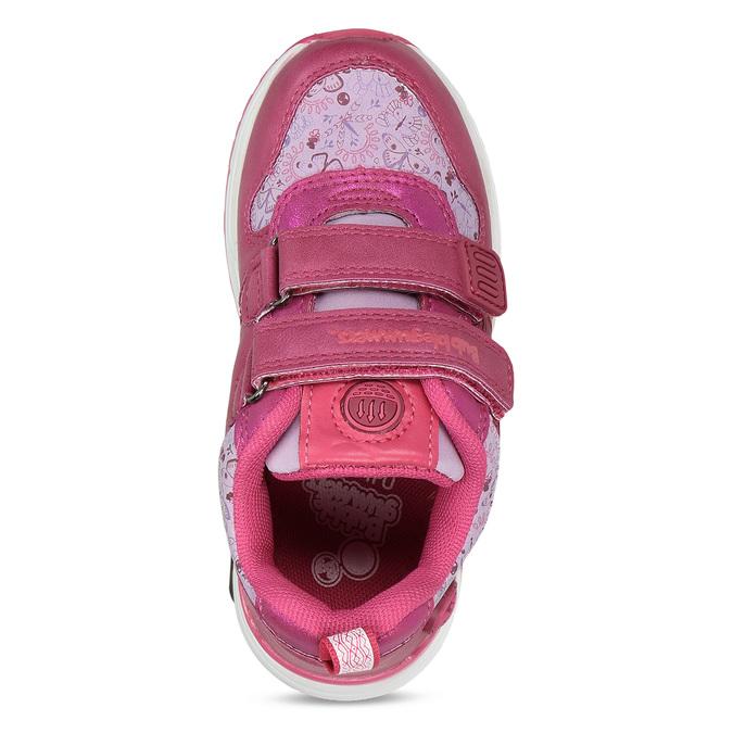 Dívčí tenisky na suchý zip růžové bubble-breathe, růžová, 221-5621 - 17