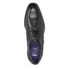 Černé pánské kožené Derby polobotky bata, černá, 824-6620 - 17
