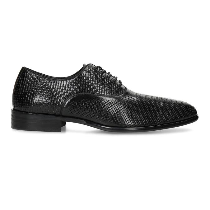Pánské kožené černé polobotky bata, černá, 824-6676 - 19
