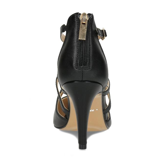 Kožené lodičky na vysokém podpatku bata, černá, 726-6604 - 15