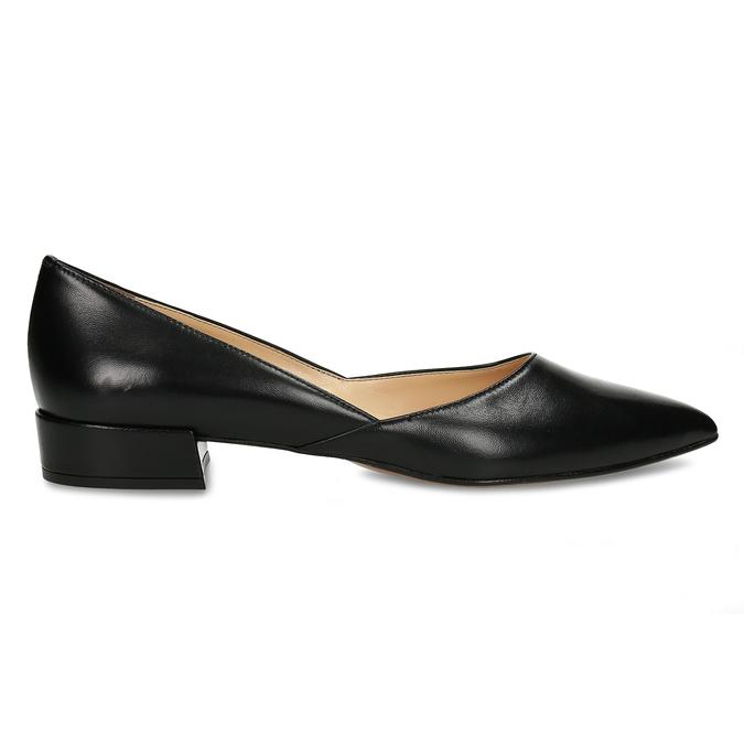 Celokožené černé baleríny na nízkém podpatku bata, černá, 524-6623 - 19