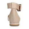 Béžové kožené baleríny s páskem bata, béžová, 524-8624 - 15
