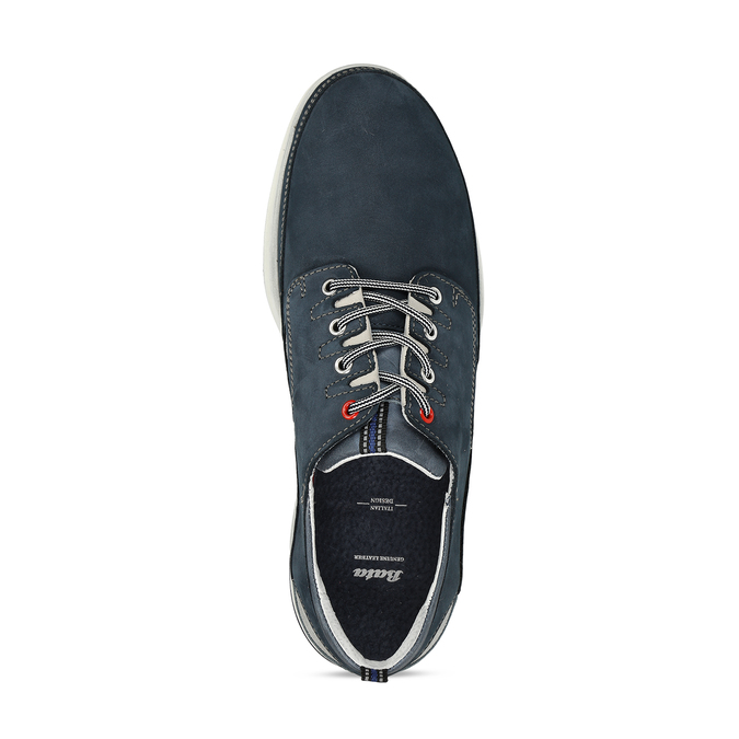 Pánské tmavě modré kožené tenisky bata, modrá, 846-9604 - 17