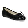 Černé dámské baleríny kožené bata, černá, 524-6626 - 13