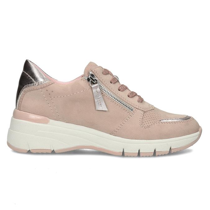 Dámské růžové tenisky na klínku bata-light, růžová, 549-8601 - 19