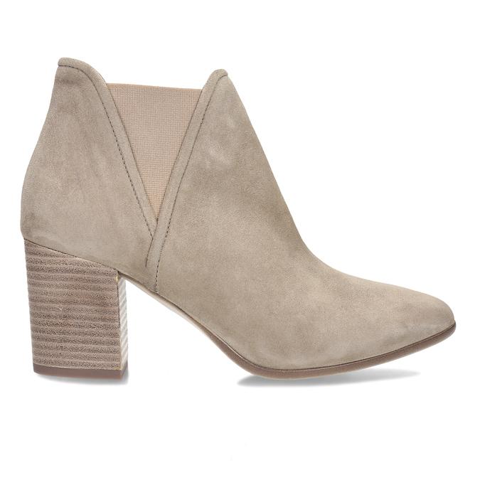 Béžová dámská kožená Chelsea obuv bata, hnědá, 693-4601 - 19
