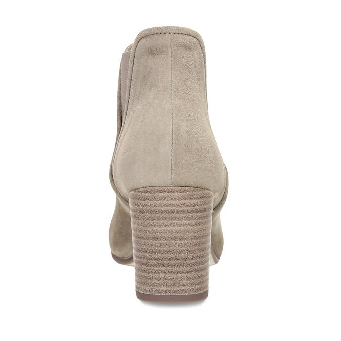 Béžová dámská kožená Chelsea obuv bata, hnědá, 693-4601 - 15