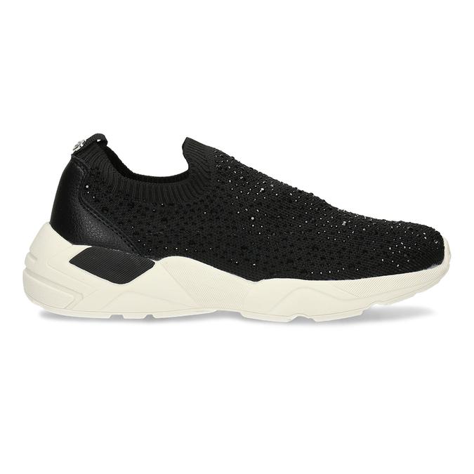 Dámská černá slip-on obuv se třpytkami bata-light, černá, 531-6602 - 19