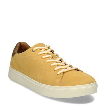 Žluté pánské kožené tenisky bata-light, žlutá, 843-8636 - 13