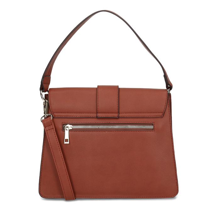 Dámská kabelka s kulatou sponou bata-red-label, hnědá, 961-5838 - 16