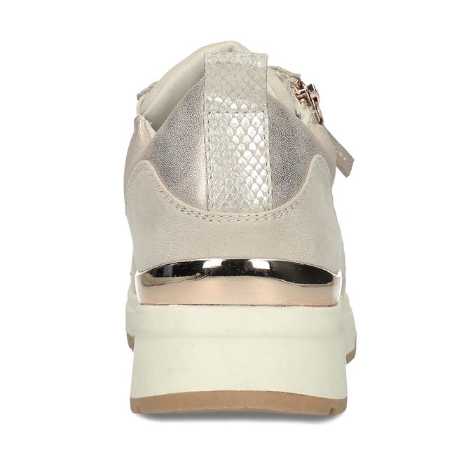Dámské béžové tenisky se zipem bata, béžová, 541-8613 - 15