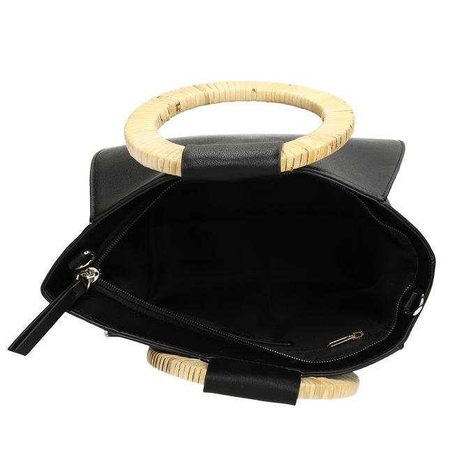 Dámská černá kabelka s kulatými uchy bata-red-label, černá, 961-6841 - 15