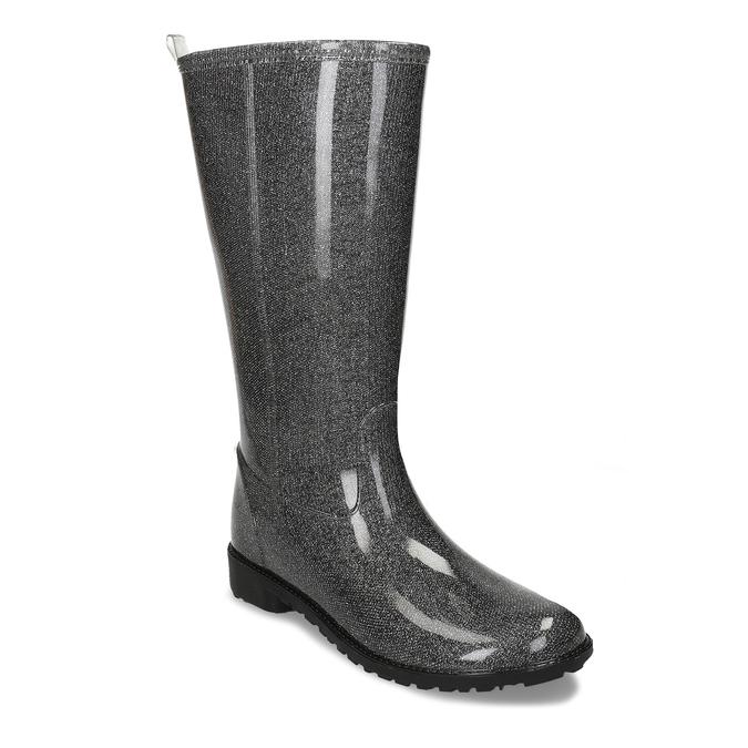 Dámské vysoké holínky bata, stříbrná, 592-1611 - 13