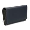 Dámská tmavě modrá peněženka s bílým prošitím bata, modrá, 941-9636 - 13