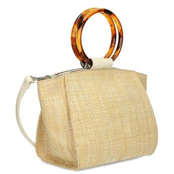 Béžová dámská kabelka s kulatými uchy bata-red-label, béžová, 961-8841 - 13