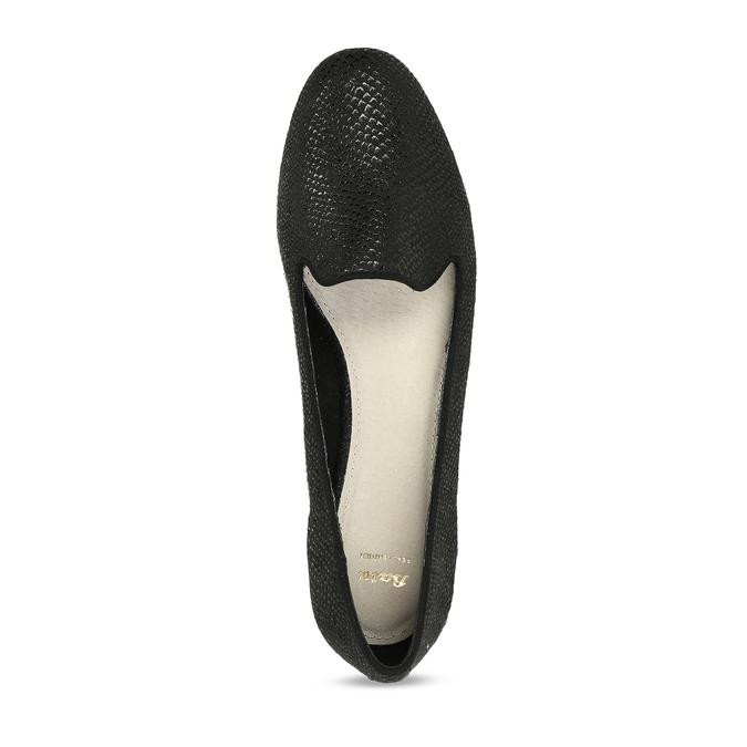 Černé dámské mokasíny ve stylu Loafers bata, černá, 521-6620 - 17