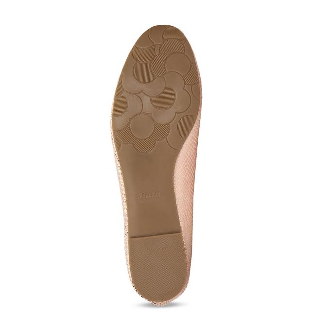 Metalické dámské Loafers mokasíny bata, růžová, 521-5620 - 18