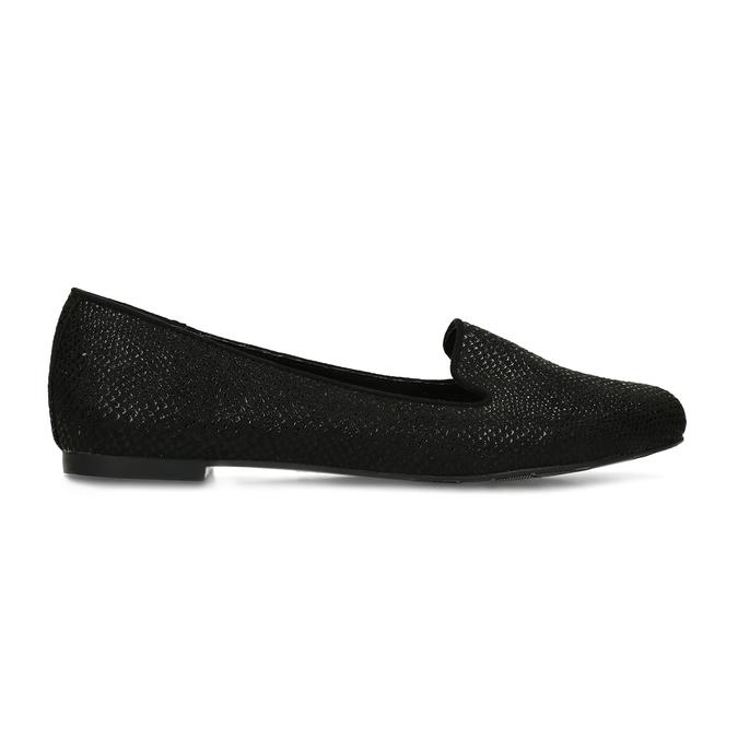 Černé dámské mokasíny ve stylu Loafers bata, černá, 521-6620 - 19