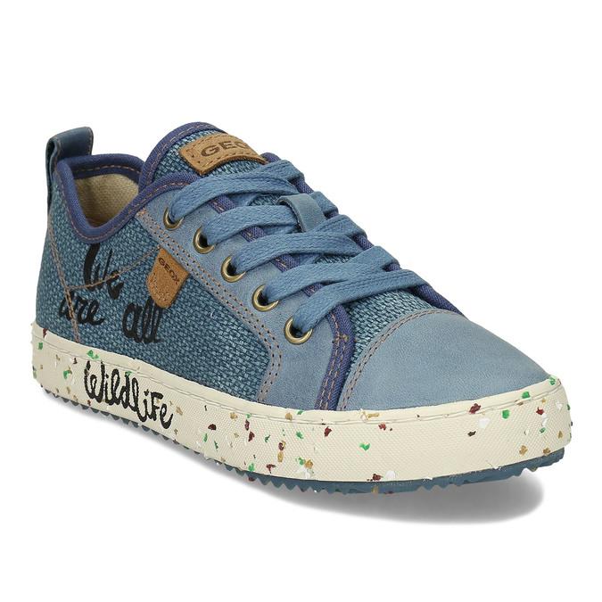 Modré dětské tenisky s potiskem geox, modrá, 319-9713 - 13