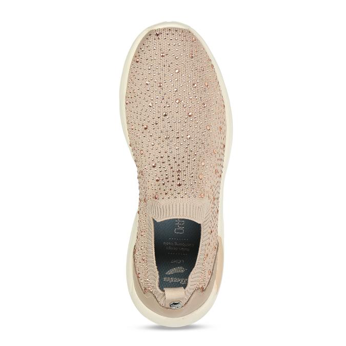 Dámská béžová slip-on obuv se třpytkami bata-light, béžová, 531-8602 - 17