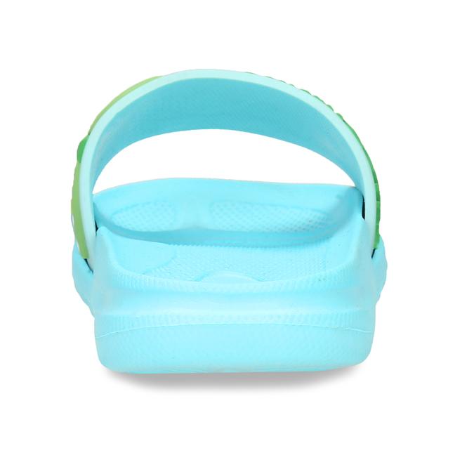 Modré dětské nazouváky s plameňákem bubblegummers, modrá, 372-9600 - 15