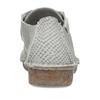 Šedé dámské kožené polobotky s hadí texturou clarks, šedá, 546-2660 - 15